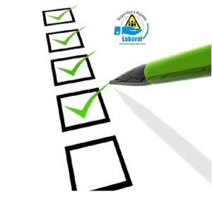 Lista de chequeo o checklist en seguridad e higiene